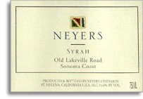 2010 Neyers Vineyards Syrah Old Lakeville Road Sonoma Coast