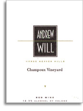 2011 Andrew Will Winery Champoux Vineyard Red Wine Horse Heaven Hills