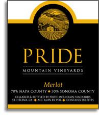 2013 Pride Mountain Vineyards Merlot Napa Valley