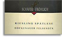 2011 Weingut Schafer Frohlich Bockenauer Felseneck Riesling Spatlese