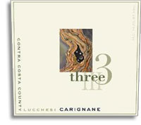 2010 Three Wine Company Carignane Lucchesi Vineyard Contra Costa County