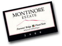 2010 Montinore Estate Pinot Noir Parson Ridge Willamette Valley