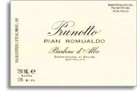 2003 Prunotto Barbera d'Alba Pian Romualdo