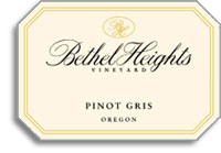 2012 Bethel Heights Vineyard Pinot Gris Oregon