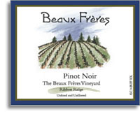 2012 Beaux Freres Vineyard & Winery Pinot Noir The Beaux Freres Vineyard Ribbon Ridge