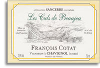 2009 Francois Cotat Sancerre Les Culs De Beaujeu