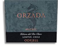 2012 Odfjell Vineyards Malbec Orzada Organic Ribera del Rio Claro Lontue Valley