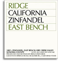 2013 Ridge Vineyards Zinfandel East Bench Dry Creek Valley