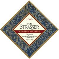 2000 Von Strasser Winery Zinfandel Monhoff Vineyard Diamond Mountain District