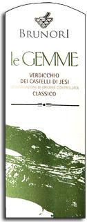 2012 Brunori Verdicchio Dei Castelli Di Jesi Classico Le Gemme