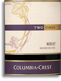 2004 Columbia Crest Winery Merlot Two Vines Washington State