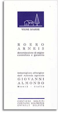 2011 Giovanni Almondo Arneis Vigne Sparse Roero