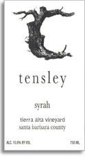 2010 Tensley Syrah Tierra Alta Vineyard Santa Barbara County