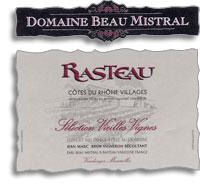 2011 Domaine Beau Mistral Rasteau Vieilles Vignes