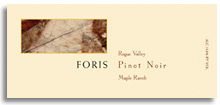 2012 Foris Vineyards Winery Pinot Noir Maple Ranch Rogue Valley