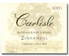 2011 Carlisle Winery Zinfandel Carlisle Vineyard Russian River Valley