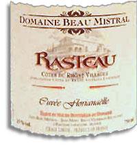 2010 Domaine Beau Mistral La Cuvee Florianaelle Rasteau