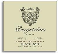 2008 Bergstrom Wines Pinot Noir Cumberland Reserve Willamette Valley