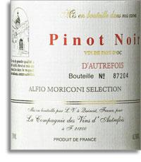 Vv Dautrefois Pinot Noir Vin De Pays Doc