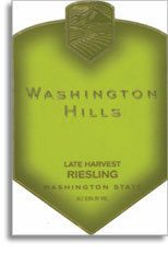 Vv Washington Hills Riesling Late Harvest Columbia Valley