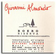 2008 Giovanni Almondo Riserva Roero