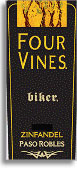 2010 Four Vines Winery Zinfandel The Biker Paso Robles