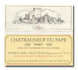 2001 Patrick Lesec Chateauneuf-du-Pape Rubis
