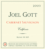 2012 Joel Gott Cabernet Sauvignon California