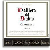 2012 Concha Y Toro Carmenere Reserve Casillero Del Diablo Rapel Valley