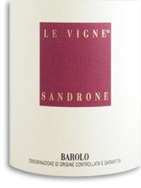 2008 Sandrone Barolo Le Vigne