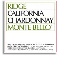2012 Ridge Vineyards Chardonnay Monte Bello Santa Cruz Mountains