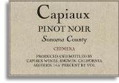 2010 Capiaux Cellars Pinot Noir Chimera Sonoma County