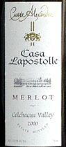 2012 Casa Lapostolle Merlot Cuvee Alexandre Apalta Vineyard Colchagua Valley