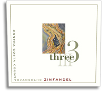 2010 Three Wine Company Zinfandel Evangelho Contra Costa County
