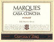 2012 Concha y Toro Merlot Marques de Casa Concha Rapel Valley