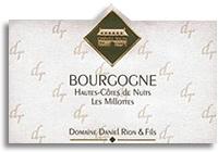 2008 Domaine Daniel Rion Et Fils Bourgogne Hautes Cotes De Nuits Blanc
