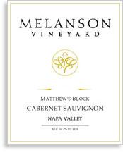 2010 Melanson Vineyard Cabernet Sauvignon Matthews Block Napa Valley