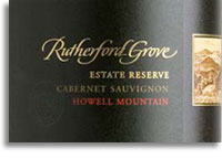 2005 Rutherford Grove Cabernet Sauvignon Estate Reserve Howell Mountain