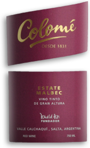 2010 Colome Malbec Estate Salta