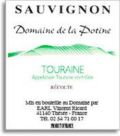 2010 Domaine Vincent Ricard Potine Sauvignon Blanc Touraine