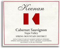 2007 Robert Keenan Winery Cabernet Sauvignon Spring Mountain District Napa Valley