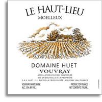 2007 Domaine Huet Vouvray Le Haut Lieu Moelleux