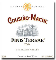 2011 Vina Cousino Macul Finis Terrae Red Wine Maipo Valley