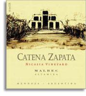 2008 Bodega Catena Zapata Malbec Catena Zapata Nicasia Vineyard La Consulta Mendoza
