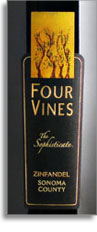 2010 Four Vines Winery Zinfandel The Sophisticate Sonoma County