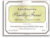 2009 Domaine Serge Dagueneau et Filles Pouilly-Fume Les Pentes