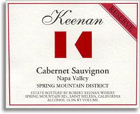2001 Robert Keenan Winery Cabernet Sauvignon Reserve Spring Mountain District