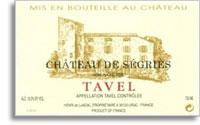 2011 Chateau De Segries Tavel Rose
