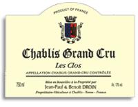 2011 Domaine Jean-Paul & Benoit Droin Chablis Les Clos