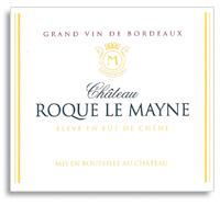 2010 Chateau Roque Le Mayne Cotes De Castillon